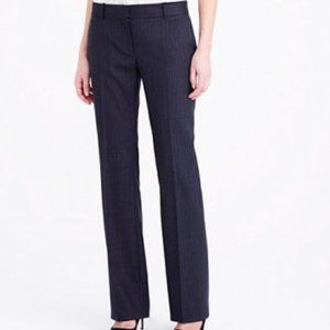 J. Crew City Fit Virgin Wool Pinstripe Dress Pants
